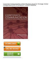 (NbcT2) Read Online Corporate Communication: Critical Business Asset for Strategic Global Change eBook