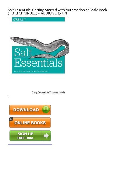 (EFFECTIVE) Download Salt Essentials: Getting Started with Automation at Scale eBook