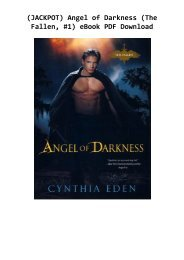 (JACKPOT) Angel of Darkness (The Fallen, #1) eBook PDF Download