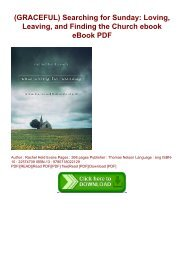 (GRACEFUL) Searching for Sunday: Loving, Leaving, and Finding the Church ebook eBook PDF
