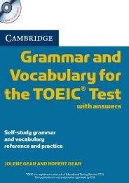 (STABLE) Cambridge Grammar and Vocabulary for the Toeic Test with Answers and Audio CDs (2): Self-Study Grammar and Vocabulary Reference and Practice eBook PDF Download
