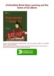 (Collectible) Book Deep Learning and the Game of Go eBook