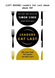 (LEFT BEHIND) Leaders Eat Last ebook eBook PDF