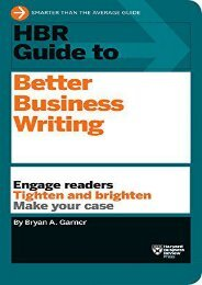 Best [PDF] HBR Guide to Better Business Writing (HBR Guide Series) by Bryan A. Garner For Online
