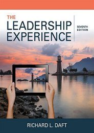 Download [Pdf] The Leadership Experience (Mindtap Course List) by Richard L. Daft pDf books