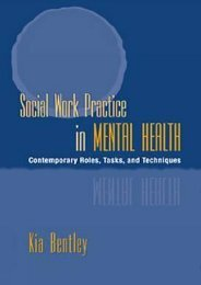 (SECRET PLOT) Social Work Practice in Mental Health: Contemporary Roles, Tasks, and Techniques eBook PDF Download