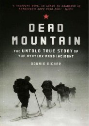 (MEDITATIVE) Dead Mountain: The Untold True Story of the Dyatlov Pass Incident (Historical Nonfiction Bestseller, True Story Book of Survival) eBook PDF Download