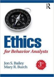 (STABLE) Ethics for Behavior Analysts eBook PDF Download