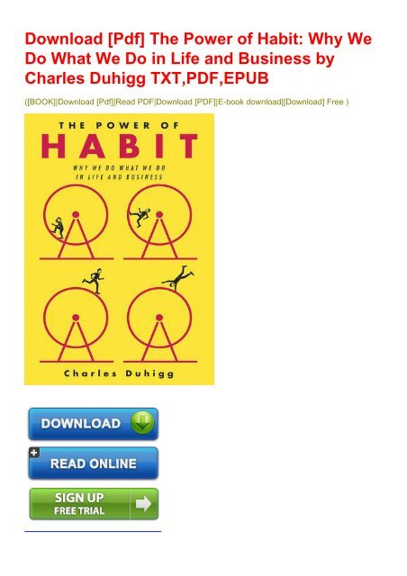 the power of habit book free download