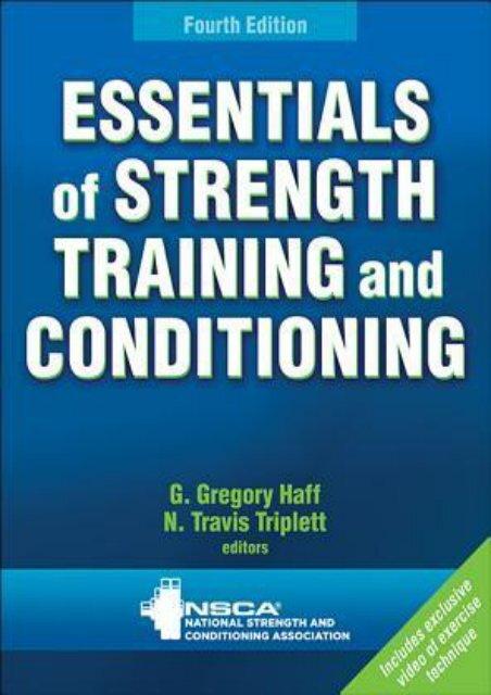 SECRET PLOT) Essentials of Strength Training and Conditioning eBook
