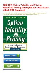 (BRIGHT) Option Volatility and Pricing: Advanced Trading Strategies and Techniques eBook PDF Download