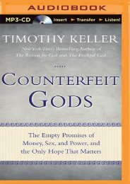 (MEDITATIVE) Counterfeit Gods: The Empty Promises of Money, Sex, and Power, and the Only Hope that Matters eBook PDF Download