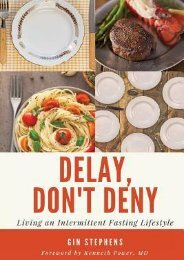 (SPIRITED) Delay, Don't Deny: Living an Intermittent Fasting Lifestyle eBook PDF Download
