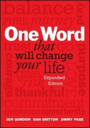 (MEDITATIVE) One Word That Will Change Your Life eBook PDF Download