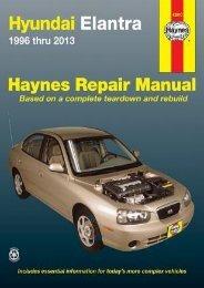 (RECOMMEND) Hyundai Elantra 1996 thru 2013 eBook PDF Download