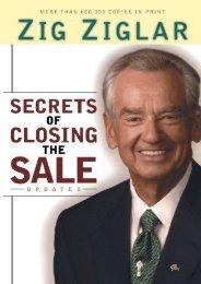 Read E-book Secrets of Closing the Sale by Zig Ziglar FOR IPAD