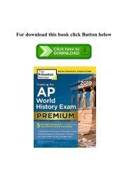 (READ)^ Cracking The Ap World History Exam 2019  Premium Edition (College Test Preparation) E.B.O.O.K$