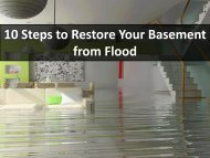 10 Steps to Restore Your Basement from Flood
