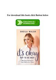 (READ-PDF!) It's Okay Not to Be Okay Moving Forward One Day at a Time [W.O.R.D]