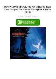 DOWNLOAD EBOOK The Art of How to Train Your Dragon The Hidden World [PDF EBOOK EPUB]