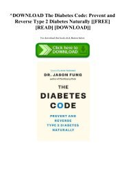 ^DOWNLOAD [PDF] The Diabetes Code Prevent and Reverse Type 2 Diabetes Naturally [[FREE] [READ] [DOWNLOAD]]