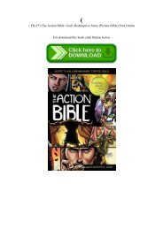 (P.D.F. FILE) The Action Bible God's Redemptive Story (Picture Bible) Free Online