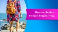 How to obtain a Sweden Student Visa