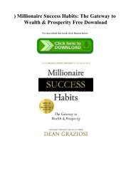 ^READ) Millionaire Success Habits The Gateway to Wealth & Prosperity Free Download