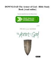 DOWNLOAD The Armor of God - Bible Study Book {read online}