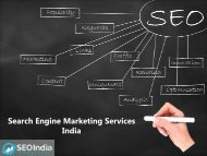 Search Engine Marketing Services in India - Seoindia