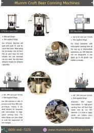 Mumm Craft Beer Canning Machines