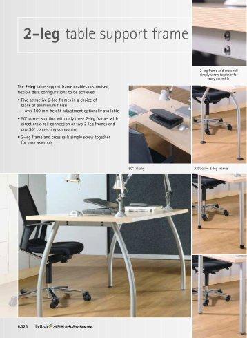 2-leg table support frame - Hettich