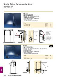 Interior fittings for bedroom furniture Garment lift - Hettich