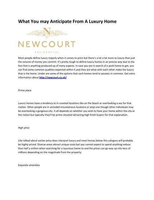 6 Newcourt Residential