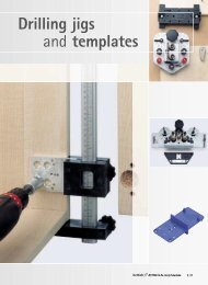 Drilling jigs and templates - Hettich