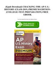 (Epub Download) CRACKING-THE-AP-U.S.-HISTORY-EXAM-2019 -PREMIUM-EDITION-(COLLEGE-TEST-PREPARATION) FREE EBOOK