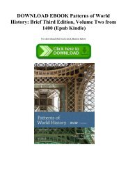 DOWNLOAD EBOOK Patterns of World History Brief Third Edition  Volume Two from 1400 (Epub Kindle)