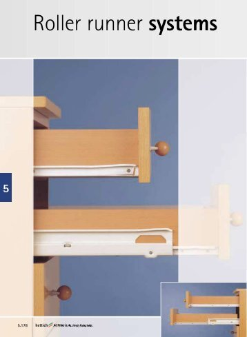 Roller runner system FR 402 with one-sided captive guide ... - Hettich