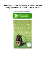 (Download) The Art Of Raising A Puppy Revised and Updated PDF - KINDLE - EPUB - MOBI
