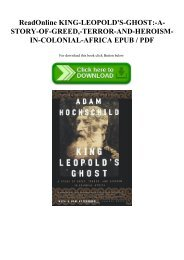 ReadOnline KING-LEOPOLD'S-GHOST-A-STORY-OF-GREED -TERROR-AND-HEROISM-IN-COLONIAL-AFRICA EPUB  PDF