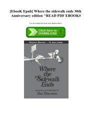 [EbooK Epub] Where the sidewalk ends 30th Anniversary edition ^READ PDF EBOOK#