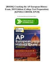 [BOOK] Cracking the AP European History Exam  2019 Edition (College Test Preparation) [KINDLE EBOOK EPUB]