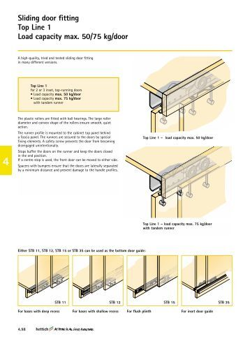 Folding Door Fitting Wing Line 230 Function Assembly Hettich