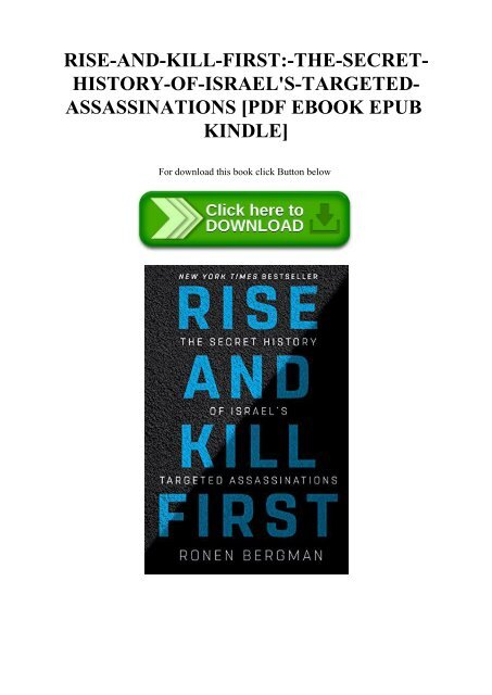 Ebook Rise And Kill First The Secret