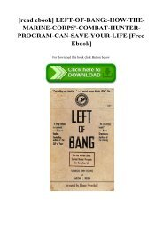 [read ebook] LEFT-OF-BANG-HOW-THE-MARINE-CORPS'-COMBAT-HUNTER-PROGRAM-CAN-SAVE-YOUR-LIFE [Free Ebook]
