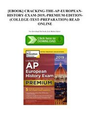 READ [EBOOK] CRACKING-THE-AP-EUROPEAN-HISTORY-EXAM-2019 -PREMIUM-EDITION-(COLLEGE-TEST-PREPARATION) READ ONLINE