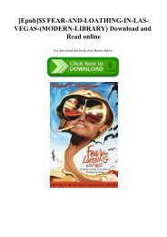 [Epub]$$ FEAR-AND-LOATHING-IN-LAS-VEGAS-(MODERN-LIBRARY) Download and Read online