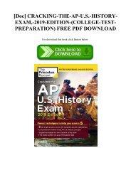 [Doc] CRACKING-THE-AP-U.S.-HISTORY-EXAM -2019-EDITION-(COLLEGE-TEST-PREPARATION) FREE PDF DOWNLOAD