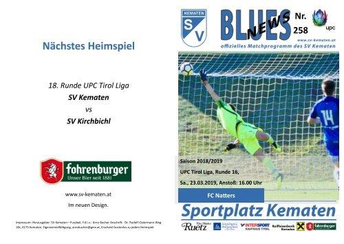 Blues News 258, SV Kematen vs FC Natters