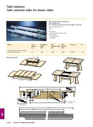 Table hardware Table extension slides for drawer tables - Hettich